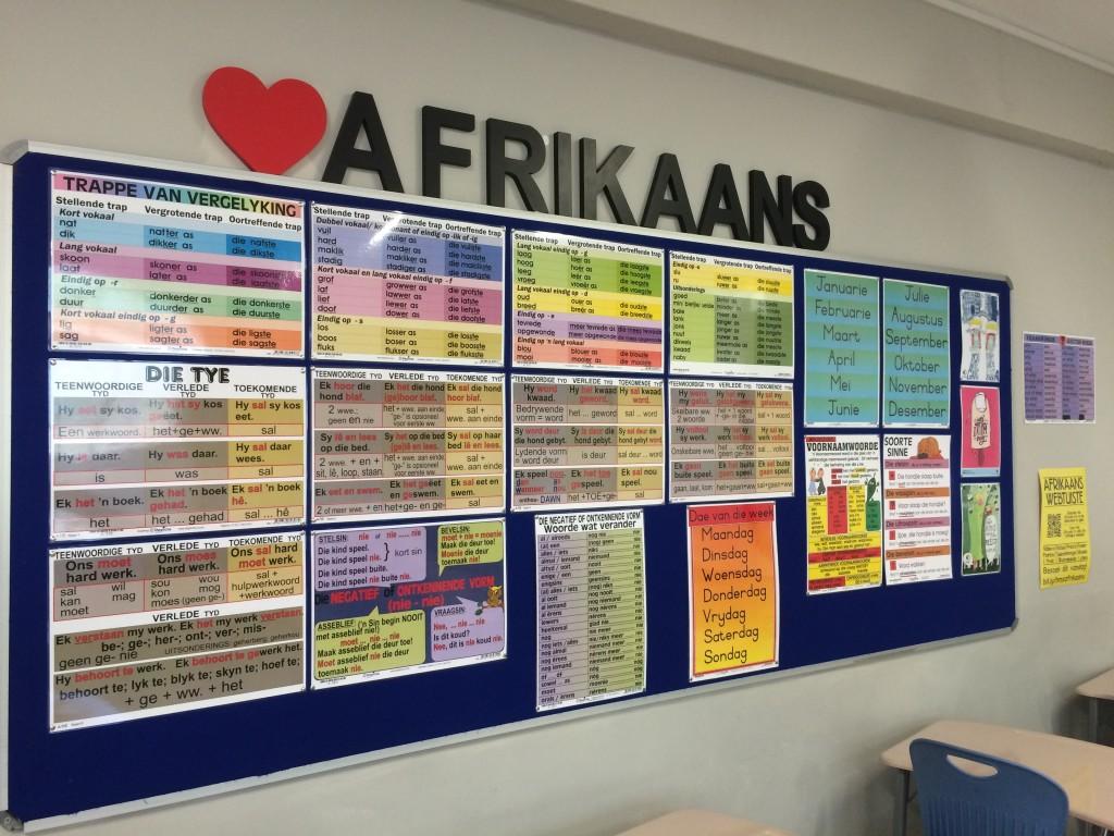 My Afrikaans-klas lyk uistekend met al my Depicta-plakkate.
